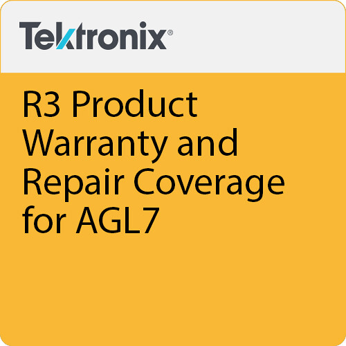 Tektronix R3 Product Warranty and Repair Coverage for AGL7