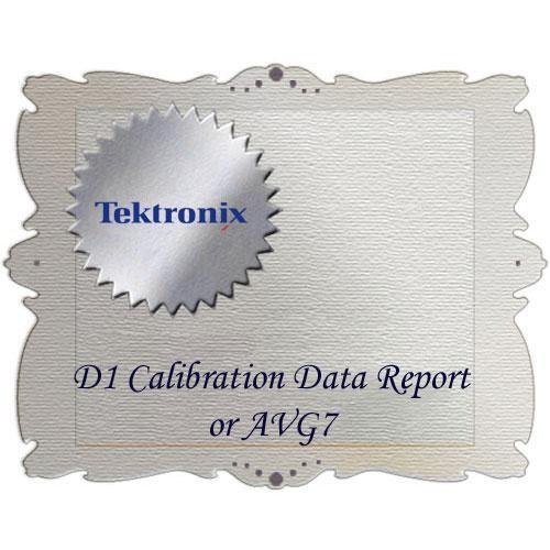 Tektronix D1 Calibration Data Report for AVG7