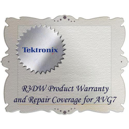 Tektronix R3DW Product Warranty and Repair Coverage for AVG7