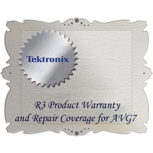Tektronix R3 Product Warranty and Repair Coverage for AVG7