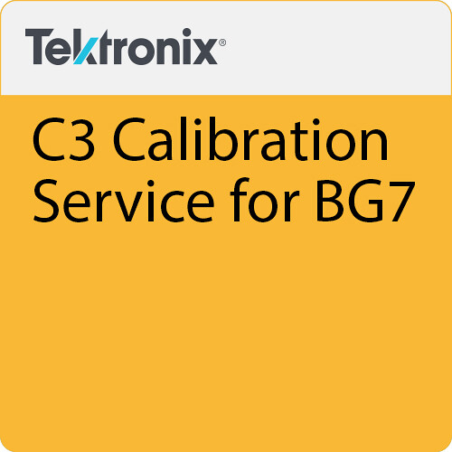 Tektronix C3 Calibration Service for BG7