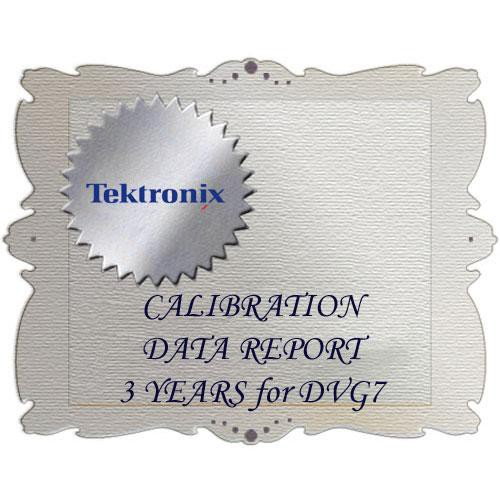 Tektronix D3 Calibration Data Report for DVG7