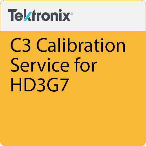 Tektronix C3  Calibration Service for HD3G7