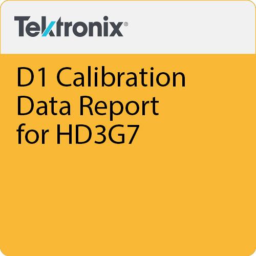 Tektronix D1 Calibration Data Report for HD3G7