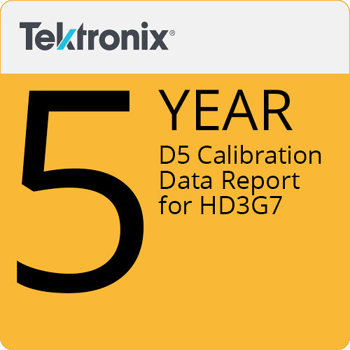Tektronix D5 Calibration Data Report for HD3G7