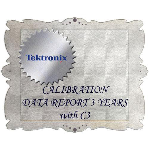 Tektronix D3 Calibration Data Report for HDVG7