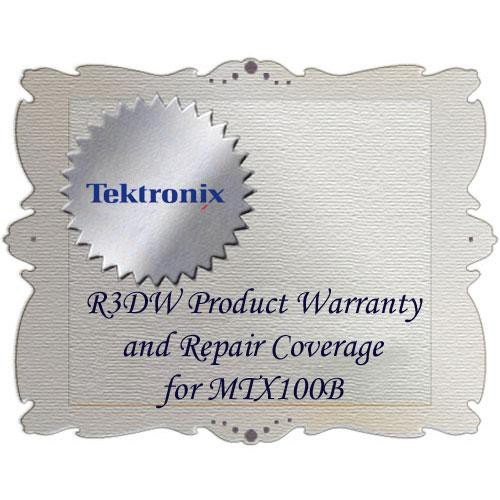 Tektronix R3DW Product Warranty and Repair Coverage for MTX100B