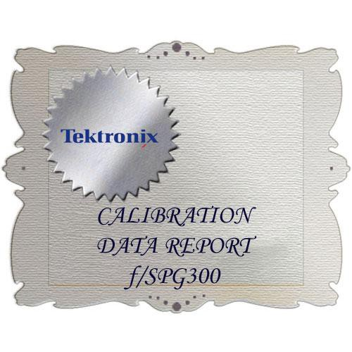 Tektronix D1 Calibration Data Report for SPG300