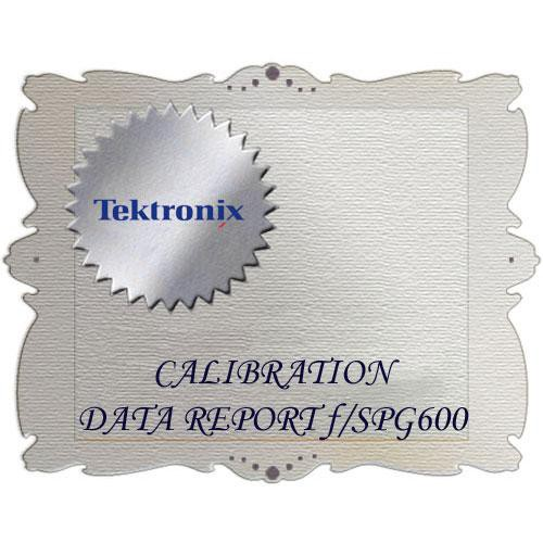 Tektronix D1 Calibration Data Report for SPG600
