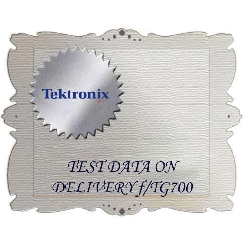 Tektronix D3 Calibration Data Report for TG700