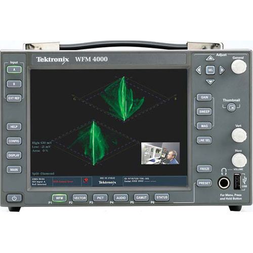 Tektronix WFM4000 Multi-Format Portable Waveform Monitor