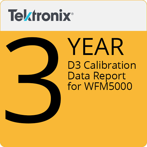 Tektronix D3 Calibration Data Report for WFM5000