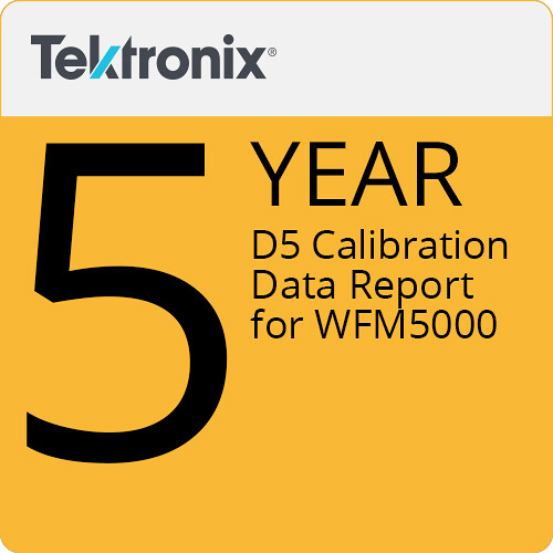 Tektronix D5 Calibration Data Report for WFM5000