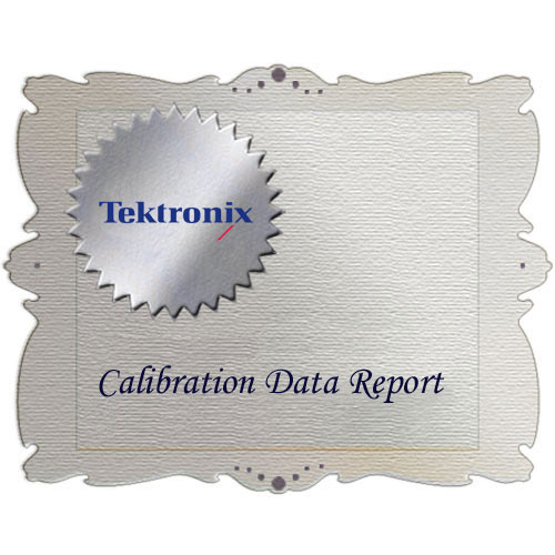 Tektronix D1 Calibration Data Report for WFM6120