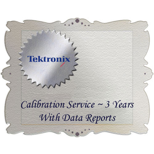 Tektronix D3 Calibration Data Report for WFM6120