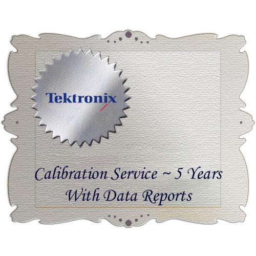 Tektronix D5 Calibration Data Report for WFM6120