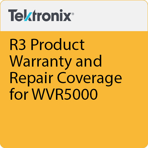 Tektronix R3 Product Warranty and Repair Coverage for WVR5000