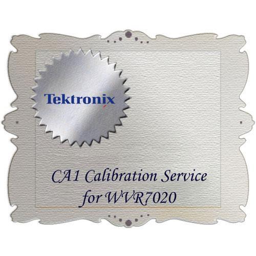Tektronix CA1 Calibration Service for WVR7020