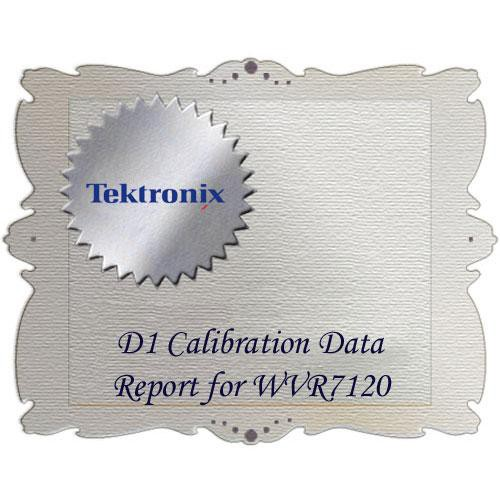 Tektronix D1 Calibration Data Report for WVR7120