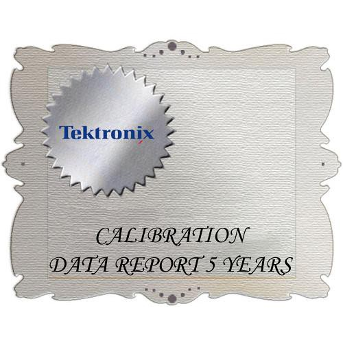 Tektronix D5 Calibration Data Report for WVR7120