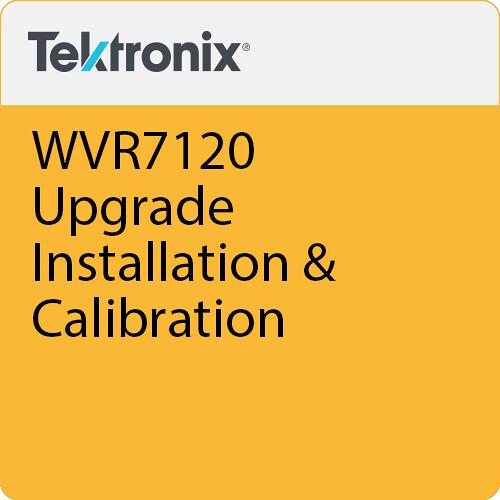 Tektronix WVR7120 Upgrade Installation & Calibration
