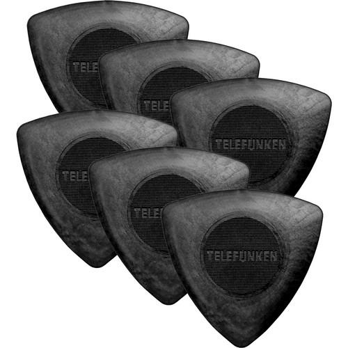 Telefunken Triangle 1.6mm Delrin Picks (6-Pack)
