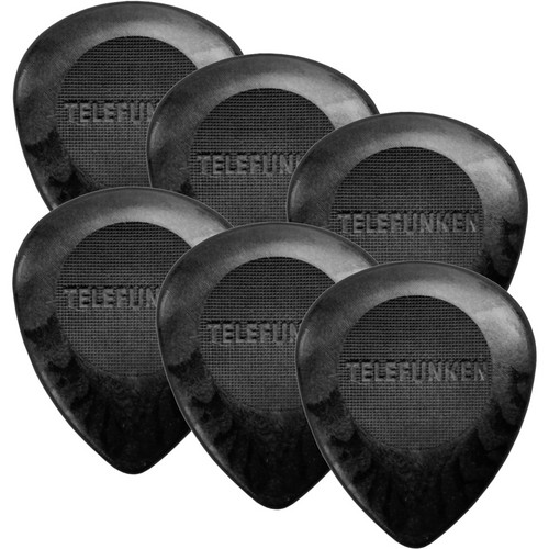 Telefunken Circle Grip 3mm Delrin Picks for Bass and Guitar (6-Pack)