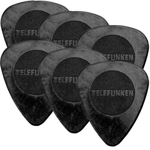 Telefunken Circle Grip .75mm Delrin Guitar Picks (6-Pack)