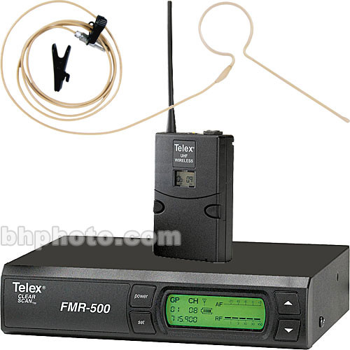 Telex FMR-500 Wireless Headset Microphone System (Beige)