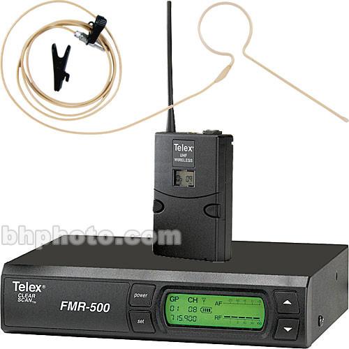 Telex FMR-500 Wireless Headset Microphone System (Beige)