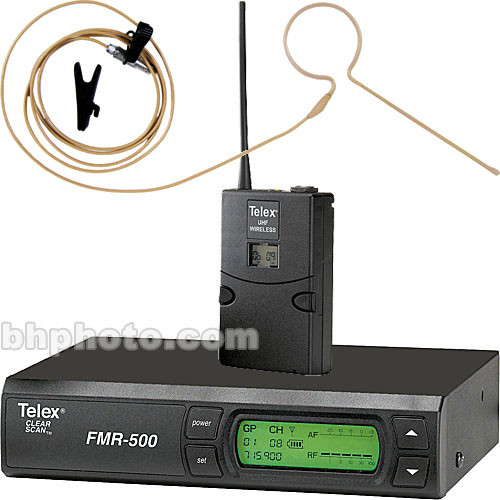 Telex FMR-500 Wireless Headset Microphone System (Brown)