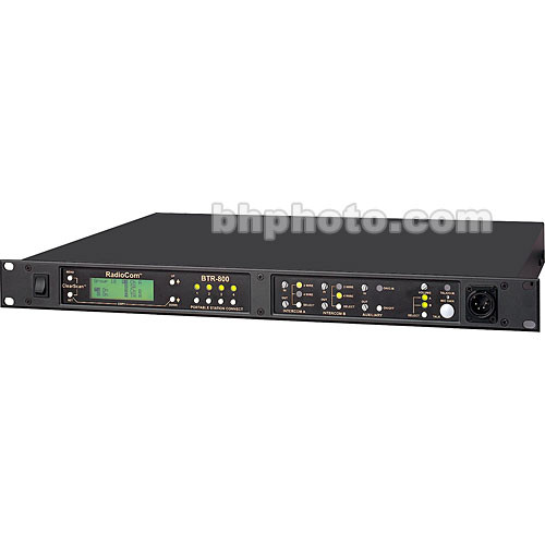 Telex BTR-800 2-Channel UHF Base Station (A5F RTS, A2: 518-536MHz Transmit/632-650MHz Receive)