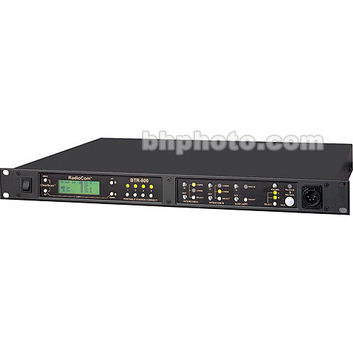 Telex BTR-800 2-Channel UHF Base Station (A5F RTS, B4: 536-554MHz Transmit/668-686MHz Receive)