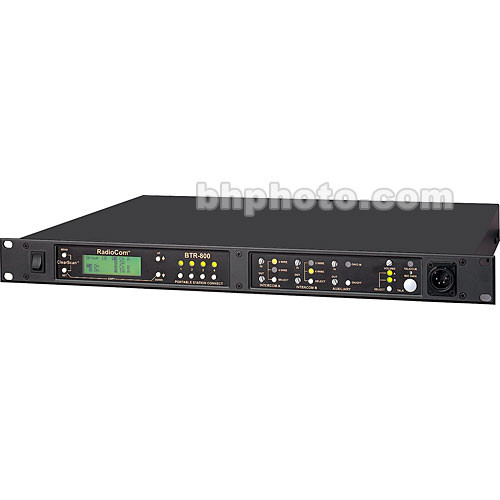 Telex BTR-800 2-Channel UHF Base Station (A5F RTS, E88: 590-608MHz Transmit/470-488MHz Receive)