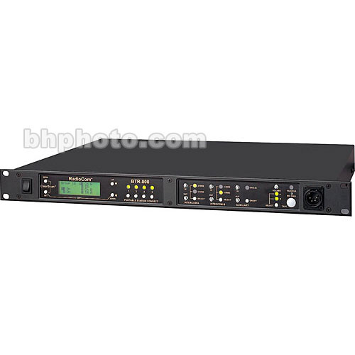 Telex BTR-800 2-Channel UHF Base Station (A4F RTS, E88: 590-608MHz Transmit/470-488MHz Receive)