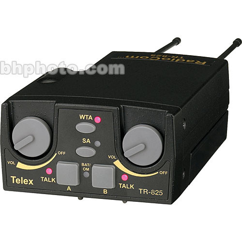 Telex TR-825 2-Channel Binaural UHF Transceiver (A5F RTS, A2: 518-536MHz Receive/632-650MHz Transmit)