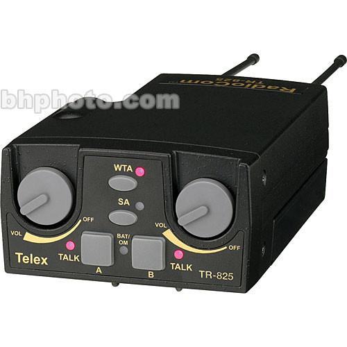 Telex TR-825 2-Channel Binaural UHF Transceiver (A4F RTS, B4: 536-554MHz Receive/668-686MHz Transmit)