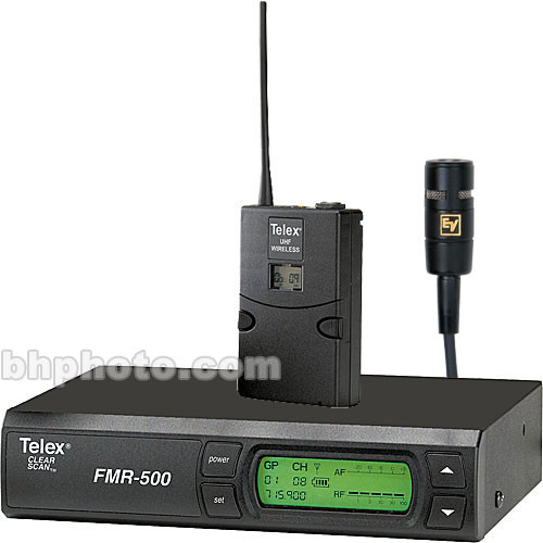 Telex FMR-500 Wireless Lavalier Microphone System (Band A - 648 - 676MHz)