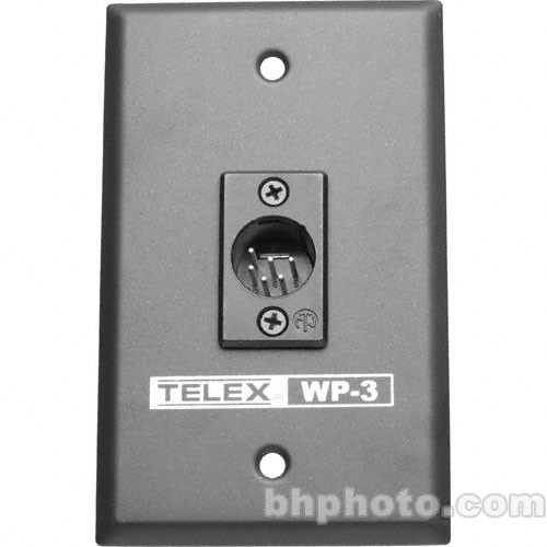 Telex WP-3 - 2-Channel Wall Plate with 6-Pin XLR Male Connector