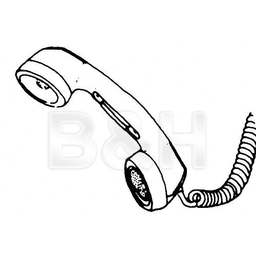Telex HS-6A - Telephone Push-to-Talk Handset - White