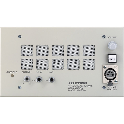 Telex WMS-300L Wall Mount User Station w/ A5F Headset Connector