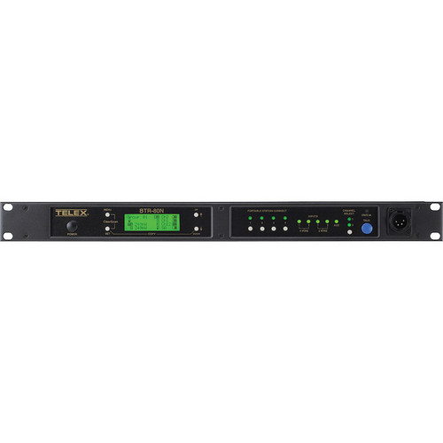 Telex BTR-80N 2-Channel UHF Base Station (A5F RTS, H1: 500-518MHz Transmit/614-632MHz Receive)