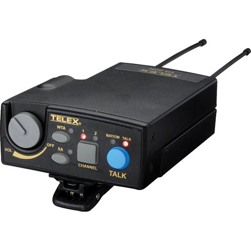 Telex TR-80N 2-Channel UHF Transceiver (A4F RTS, F4: 482-500MHz Receive/668-686MHz Transmit)