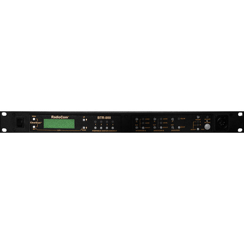 Telex BTR-800 2-Channel UHF Base Station (A4M Telex, A3: 518-536MHz Transmit/650-668MHz Receive)