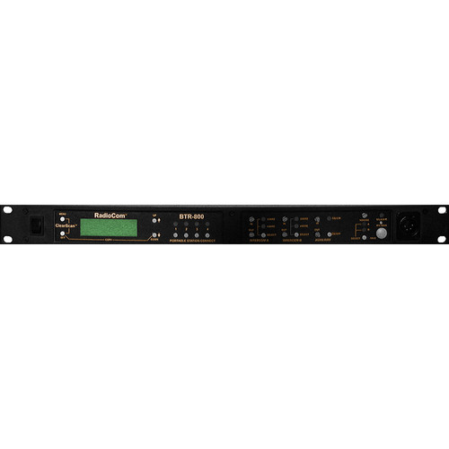Telex BTR-800 2-Channel UHF Base Station (A5F RTS, F1: 482-500MHz Transmit/614-632MHz Receive)