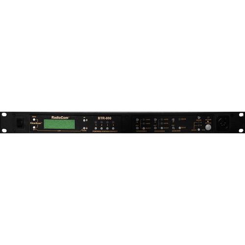 Telex BTR-800 2-Channel UHF Base Station (A5F RTS, F1: 482-500MHz Transmit/614-632MHz Receive)