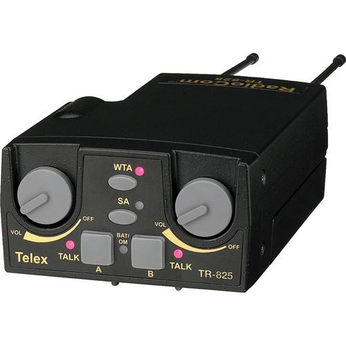Telex TR-825 2-Channel Binaural UHF Transceiver (A5F RTS, F2: 482-500MHz Receive/632-650MHz Transmit)