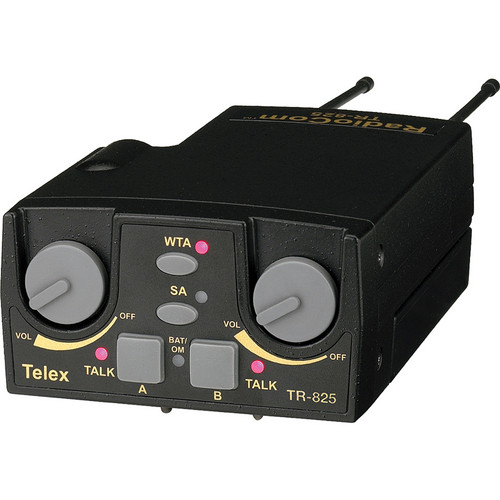 Telex TR-825 2-Channel Binaural UHF Transceiver (A4F RTS, F4: 482-500MHz Receive/668-686MHz Transmit)