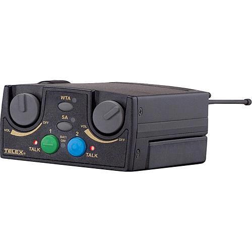 Telex TR-82N 2-Channel UHF Beltpack Transceiver (A5M Telex, B1: 536-554MHz Receive/614-632MHz Transmit)