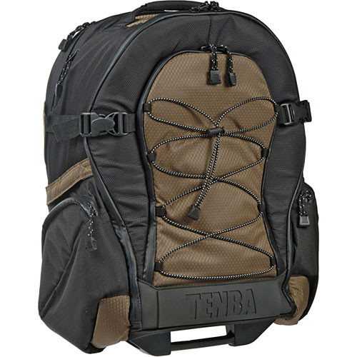 Tenba Shootout Rolling Backpack, Medium (Black and Olive)